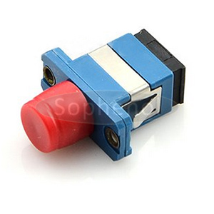 FC-SC Singlemode Simplex Plastic Fiber Optic Adapter