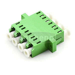 LC APC-LC APC Singlemode Quad Plastic Fiber Optic Adapter