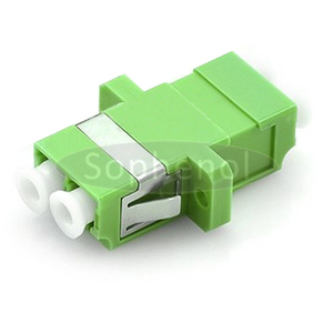 LC APC-LC APC Singlemode Duplex SC Type With Flange Plastic Fiber Optic Adapter