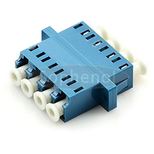 LC-LC Singlemode Quad Plastic Fiber Optic Adapter