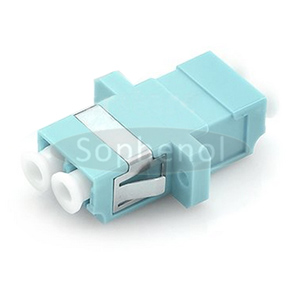 LC-LC 10G OM3 Duplex SC Type With Flange Plastic Fiber Optic Adapter