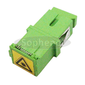 SC APC-SC APC Singlemode Simplex With Automatic Cap Plastic Fiber Optic Adapter