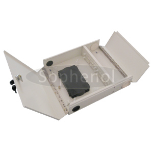 24 Ports SC Fiber Optic Wall Mount Box Two Door For Indoor Use