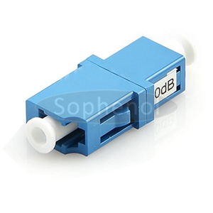 LC Singlemode Fixed Flanged Fiber Optic Attenuator Female to Female 1~25dB Optional