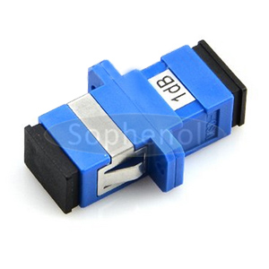 SC Singlemode Fixed Flanged Fiber Optic Attenuator Female to Female 1~25dB Optional