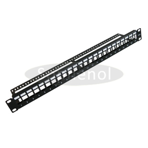 1U Blank Patch Panel 24 Ports with Fixed Bar Metal