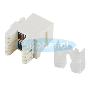CAT5E UTP Keystone Jack 180 Degree Short Body White