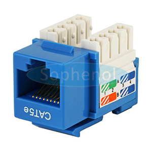 CAT5E UTP Keystone Jack Slim Type Blue