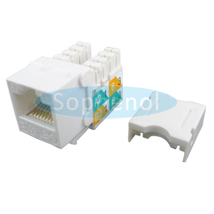 CAT5E UTP Keystone Jack Slim Type White