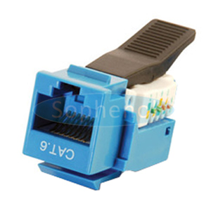 CAT6 UTP Keystone Jack Toolless Type Blue