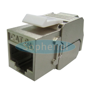 CAT6A FTP Zinc Die-casting Keystone Jack 180 Degree Slim Type