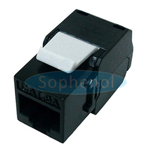 CAT6A UTP Keystone Jack 180 Degree Slim Type Black