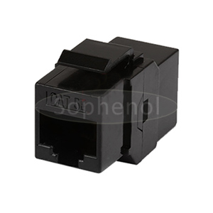 CAT5E UTP Inline Coupler RJ45-RJ45 Keystone Type Black