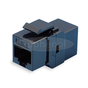 CAT6 UTP Inline Coupler RJ45-RJ45 Keystone Type Black