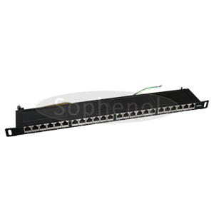 0.5U - CAT5E FTP High Density 24 Ports Patch Panel,Dual IDC