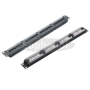 CAT6 UTP 24 Ports Patch Panel Dual IDC, Black