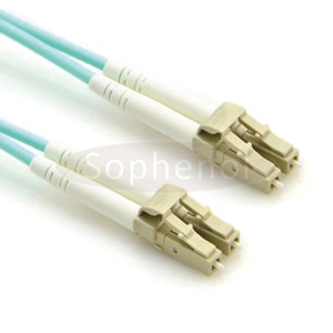 LC - LC OM3 10G 50/125 Duplex Multimode OFNR Fiber Patch Cable