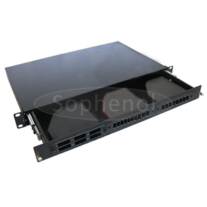 1U Sliding MTP Patch Panel, Including 3 MTP-LC Cassettes and Accessories