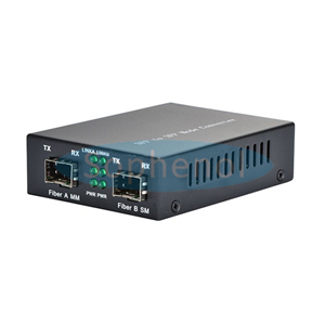 Multimode to SingleMode 550M/20KM 850nm/1310nm SFP Gig E  Fiber Media Converter